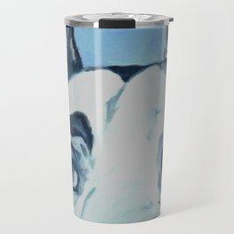Great Dane in Purple Travel Mug