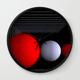 red white black -16- Wall Clock