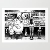 cheese Art Prints featuring Cheese. by Samuel Guerrero