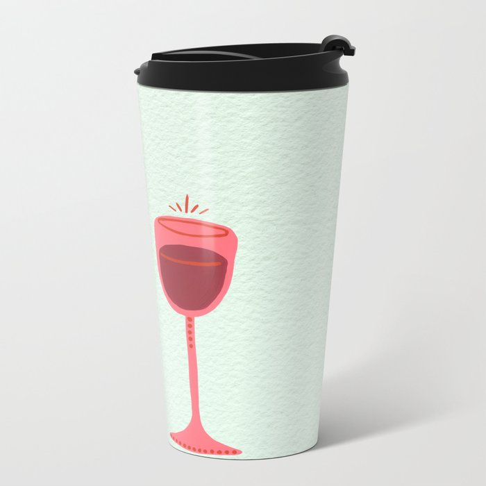 Wine Metal Travel Mug