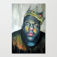 notorious Canvas Prints featuring NOTORIOUS by marikowhitley
