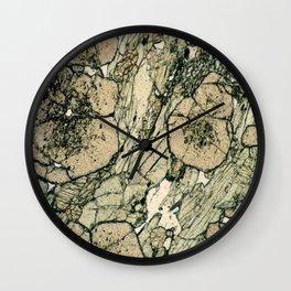 Garnet Crystals Wall Clock