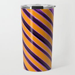 Retro Sixties Purple Orange Banner Travel Mug