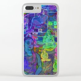 SPACED OUT Clear iPhone Case