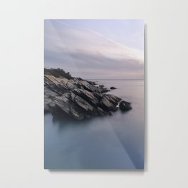 Sunset at Beavertail Metal Print