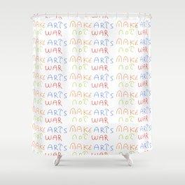 make art not war-anti-war,pacifist,pacifism,art,artist,arte,paz,humanities Shower Curtain