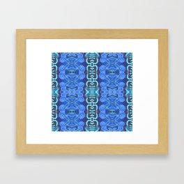 Indigo & Aqua Boujee Boho Framed Art Print