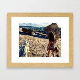 Babo, Boulders, Brenda Framed Art Print