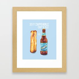 Food Pun - Sexy Chip 'N' Ale Framed Art Print