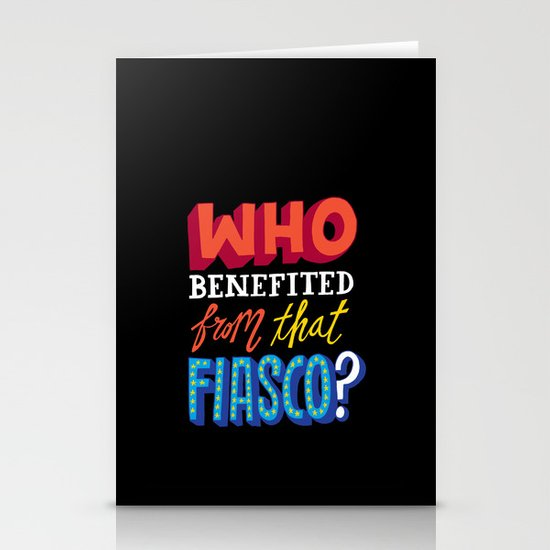 This Fiasco Stationery Cards