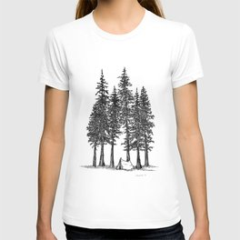 Camping with giants T-shirt