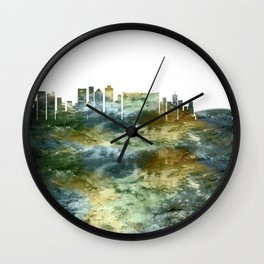 Cape Town South Africa Skyline Wall Clock