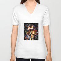ghost in the shell V-neck T-shirts featuring Ghost in the Shell by ururuty