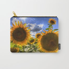 Sunflowers Of Summer Carry-All Pouch