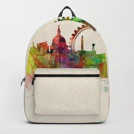 London Skyline Watercolor Backpack