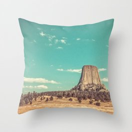 Devil's Tower National Monument Wyoming Throw Pillow