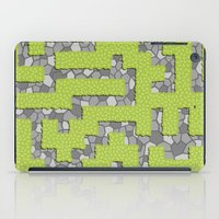 labyrinth iPad Cases featuring Labyrinth by wrkdesigns