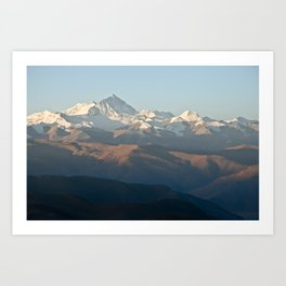 Mount Everest at dawn Art Print