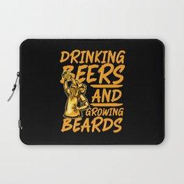 beers & grow beards Laptop Sleeve