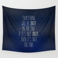 the fault Wall Tapestries featuring The Fault In Our Stars by Adel