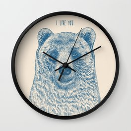 Bear (Ivory) Wall Clock
