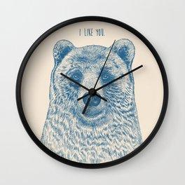 Bear (Ivory) Wall Clock