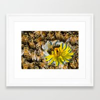 bees Framed Art Prints featuring Bees by Moody Muse