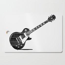 Black Guitar Cutting Board
