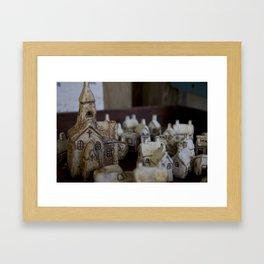 Ceramic Town Framed Art Print