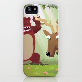 Danger in woods iPhone Case