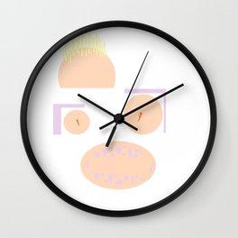 Pastel smiley Wall Clock