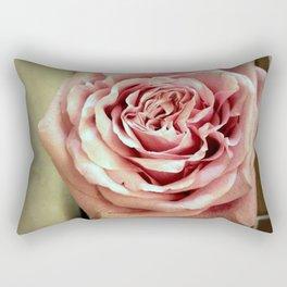 Vintage Tea Rose. Retro Style Rectangular Pillow