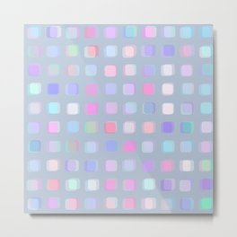 Colorful overlapping squares and teals Metal Print