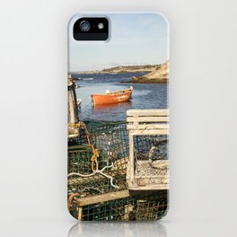 Lobster Traps in Peggy's Cove iPhone Case