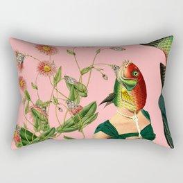 fish soul mate pink #collage Rectangular Pillow