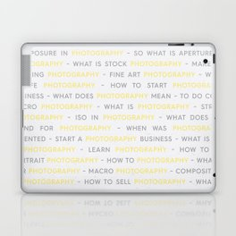 Photography Yellow Keywords Laptop & iPad Skin