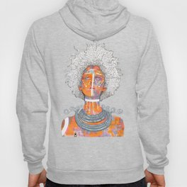 African Queen with white Eyes and awesome Afro Hoody