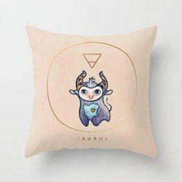 Baby Taurus - Baby Zodiac Collection Throw Pillow