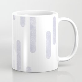 Dusty Purple on White | Large Scale Inky Rounded Lines Pattern Coffee Mug
