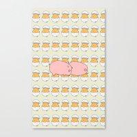 breakfast Canvas Prints featuring Breakfast by Drew Devries