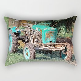 Old traditional Lindner tractor   conceptual photography Rectangular Pillow