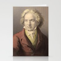 beethoven Stationery Cards featuring Beethoven by Palazzo Art Gallery
