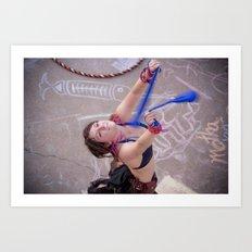 Dancing Hippie Art Print