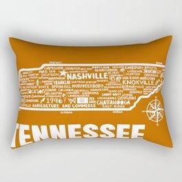 Tennessee Map  Rectangular Pillow
