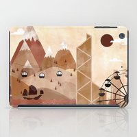 travel poster iPad Cases featuring Hong Kong Travel Poster Illustration by ClaireIllustrations