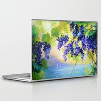 italy Laptop & iPad Skins featuring Grapes Italy by OLHADARCHUK