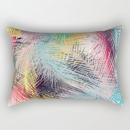 Jungle pampa colorful forest. Tropical fresh forest pattern with palms Rectangular Pillow