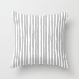 Brushstrokes / pale gray Throw Pillow