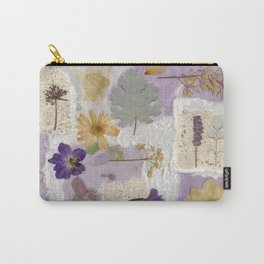 Lavender Collage Carry-All Pouch