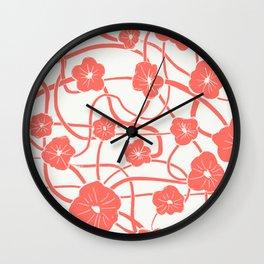Mai Tai in Living Coral Wall Clock